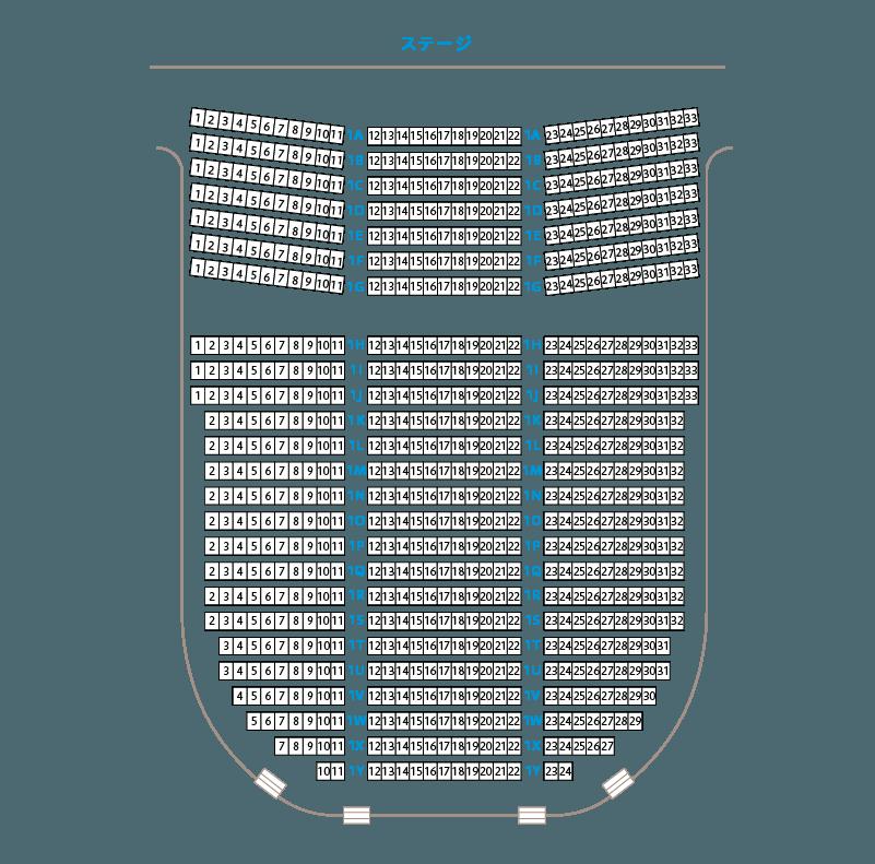 座席表大ホール1階