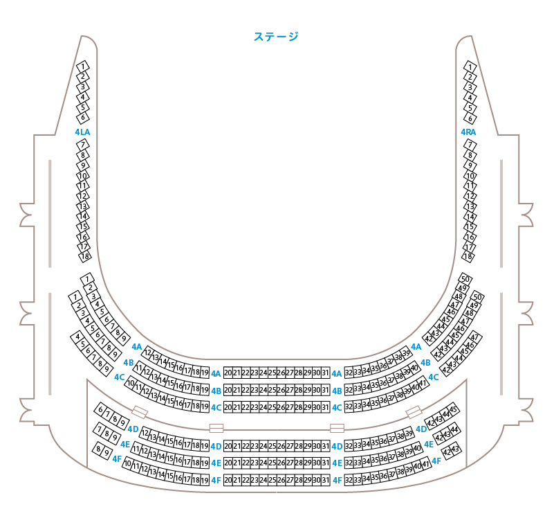 座席表大ホール4階